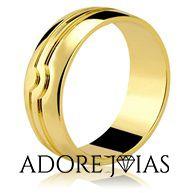 Aliança de Casamento em Ouro 18k Raissa