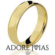 Aliança de Casamento em Ouro 18k Raquel