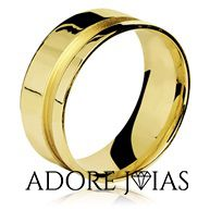 Aliança de Casamento em Ouro 18k Rosa