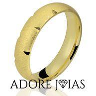 Aliança de Casamento em Ouro 18k Rosângela