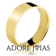 Aliança de Casamento em Ouro 18k Roseli