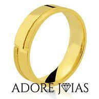 Aliança de Casamento em Ouro 18k Rúbia