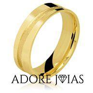 Aliança de Casamento em Ouro 18k Samara
