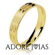 Aliança de Casamento em Ouro 18k Samira