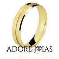 Aliança de Casamento em Ouro 18k Sandra