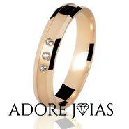 Aliança de Casamento em Ouro 18k Santorini
