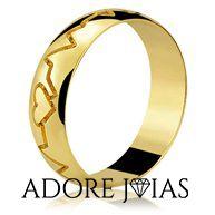 Aliança de Casamento em Ouro 18k Sarah