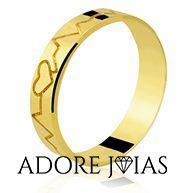 Aliança de Casamento em Ouro 18k Silvana