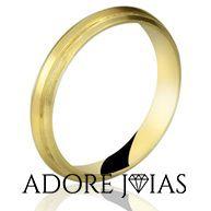 Aliança de Casamento em Ouro 18k Sílvia