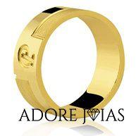 Aliança de Casamento em Ouro 18k Suzana