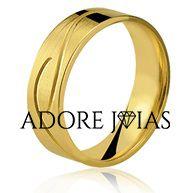 Aliança de Casamento em Ouro 18k Taís