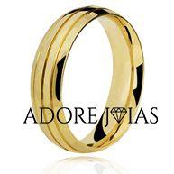 Aliança de Casamento em Ouro 18k Tatiana