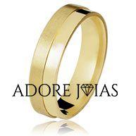 Aliança de Casamento em Ouro 18k Thaís