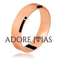 Aliança de Casamento em Ouro 18k Valentina