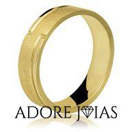 Aliança de Casamento em Ouro 18 k Valéria