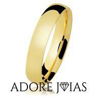 Aliança de Casamento em Ouro 18k  Valéria2