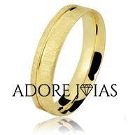 Aliança de Casamento em Ouro 18 k Yohanna