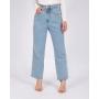 Calça Jeans Cropped Barra a Fio