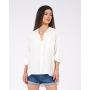 Camisa Manga Longa com Bolso Off White