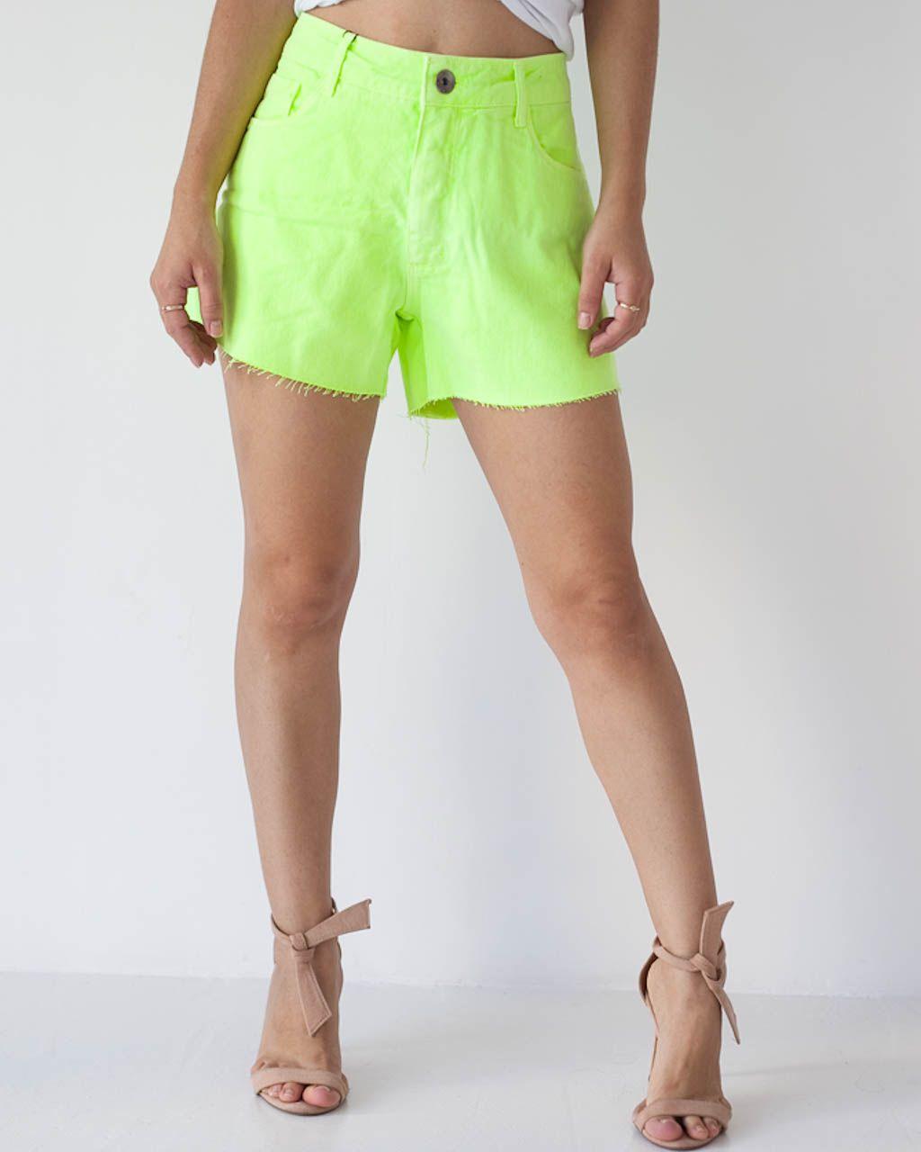 Bermuda Jeans Comfort Low Verde Neon