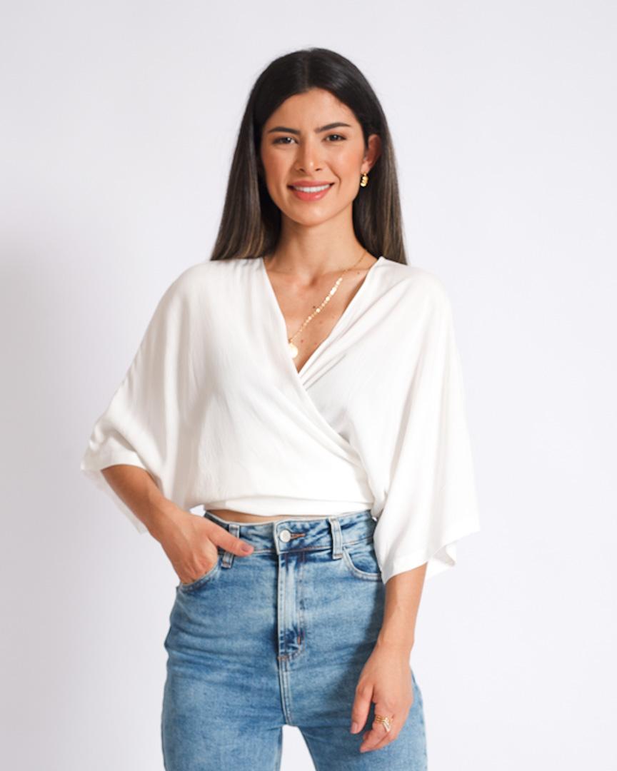 Blusa Transpassada Off White