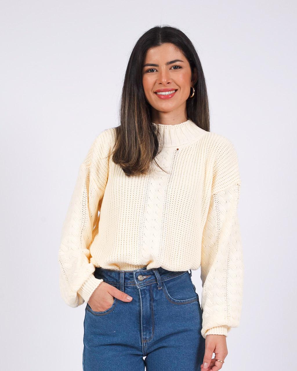 Blusa Tricot Off White