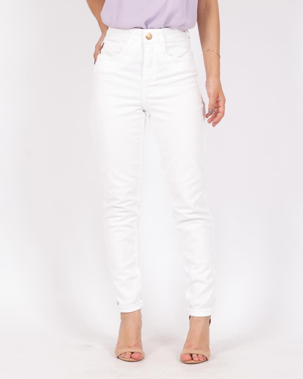 Calça Jeans Cintura Alta Branca
