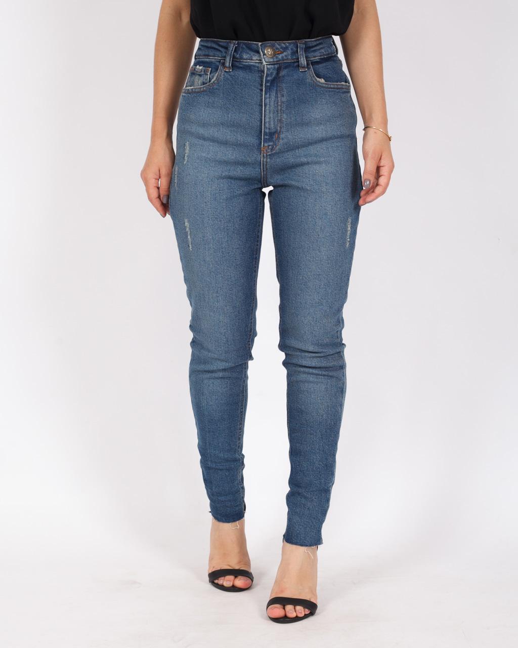 Calça Jeans Skinny Média