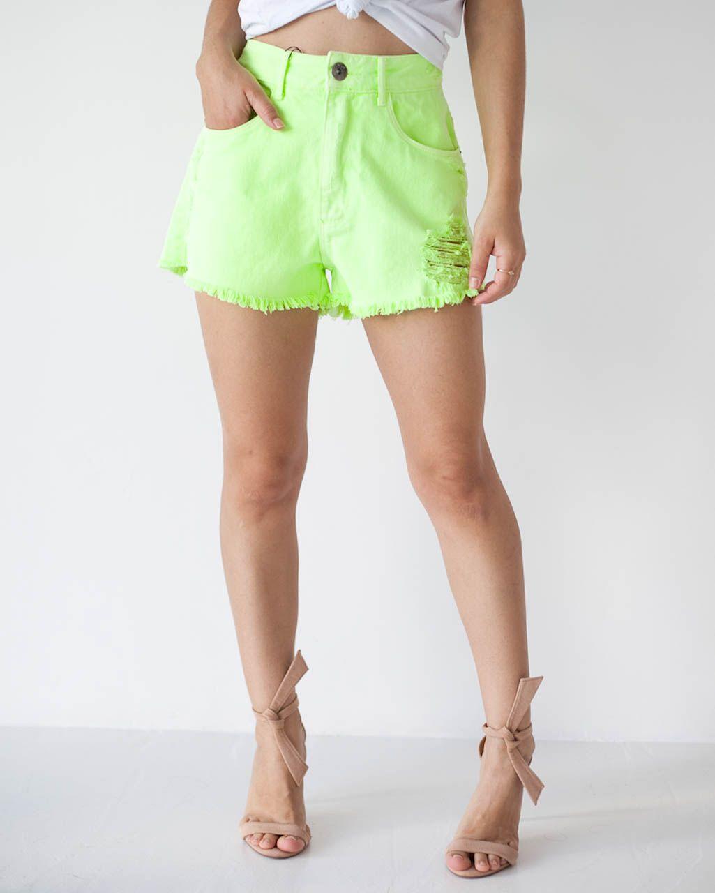 Short Jeans Verde Neon