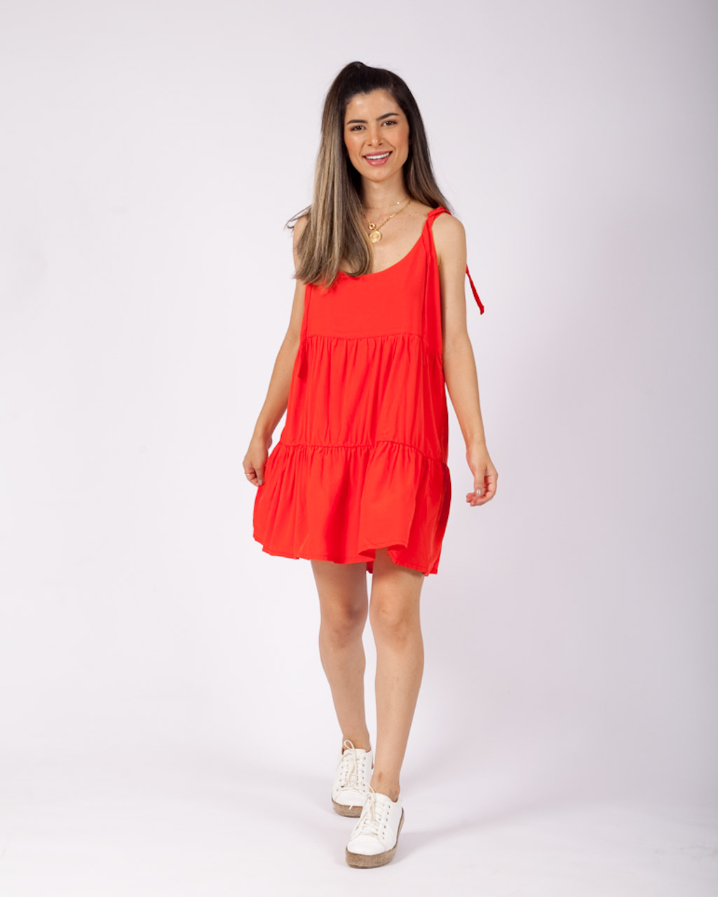 Vestido Arezzo Coral