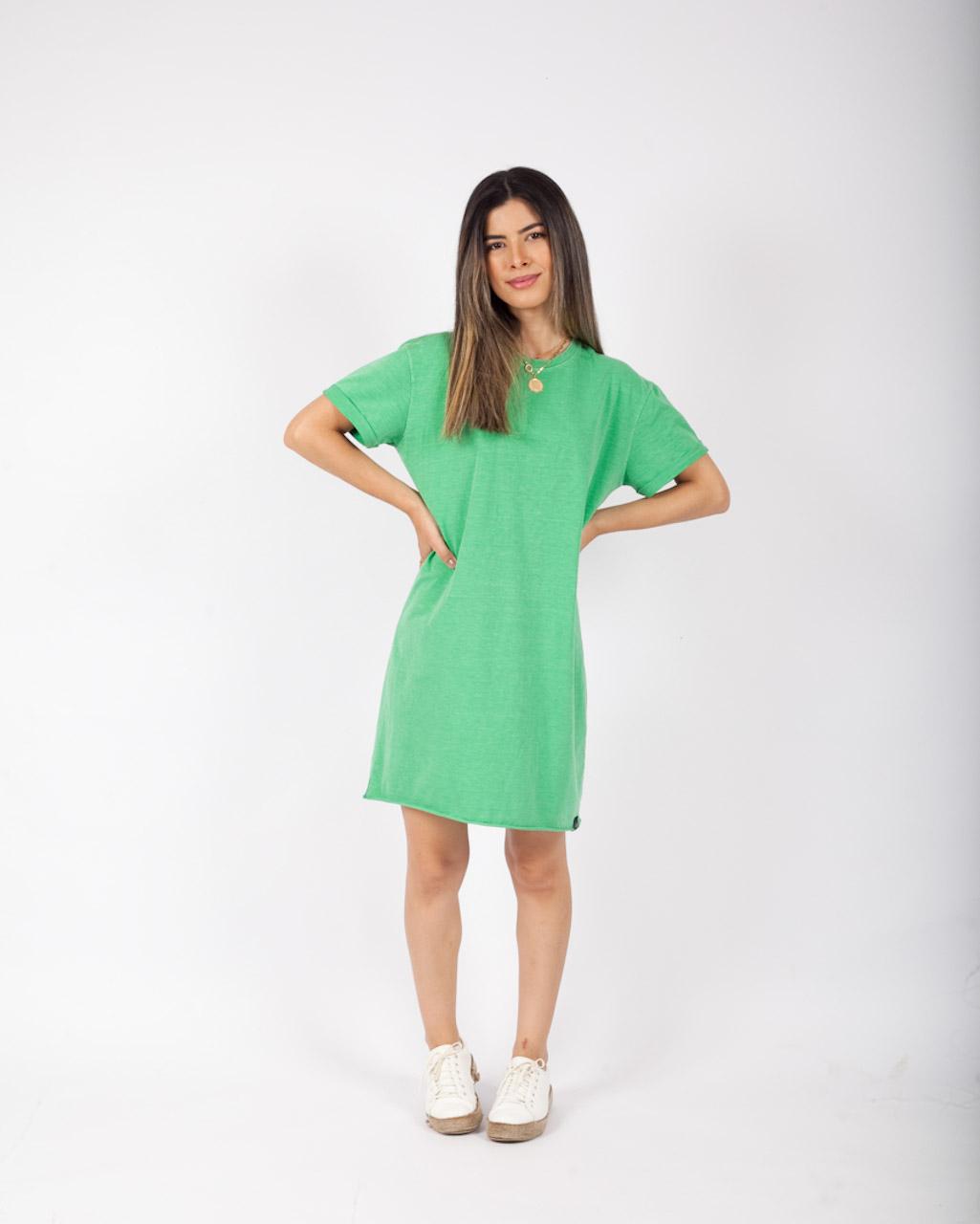Vestido Estonado Verde