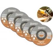 "5 Discos Abrasivo Hessen A24R-BF Metal-Aço 4.1/2"" 4x7/8"