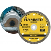 Disco De Corte Diamantado Turbo Hammer Dp-1000 110mm Para Serra Mármore Premium