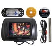 Encosto De Cabeça Automotivo C/ Tela Lcd 7 Pol. E-tech DVD Premium