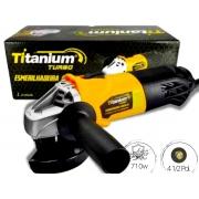 Esmerilhadeira Angular 710W Turbo Titanium 4.1/2 Pol.
