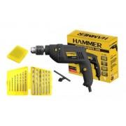 Furadeira De Impacto 550w Hammer Fi-1000 Com Jogo De Brocas Western 13 Peças voltagem:110v
