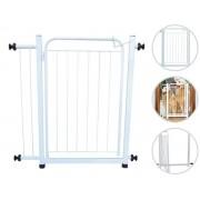 Grade Portão Pet Extensivo Açomix 80cm Branco Aço Carbono