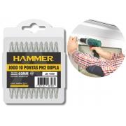 Jogo De Bits Ponteiras Phillips Hammer jb-1000 Aço Cromo Vanádio 10 Peças