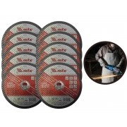 Kit 10 Discos De Corte Rápido MTX 7434755 Para Metal 7 Pol.