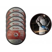 Kit 5 Discos De Corte Rápido MTX 7434755 Para Metal 7 Pol.
