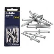 Kit De Rebites Em Alumínio 310 Brasfort 7715 10 Peças
