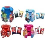Kit Lazer Boia e Colete Infantil Inflável Etitoys Desenhos Famosos Desenho do tecido: Frozen