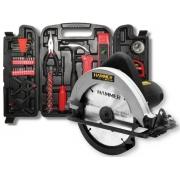 Kit Serra Circular 1100w Hammer Gysc-1100 185mm + Maleta De Ferramentas Infinity Tools 134 Peças