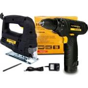 Kit Serra Tico Tico Hammer ST-400 400w + Furadeira Parafusadeira 12v Hammer PLI-10