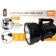 Lanterna De Led Made Basics LA-4 Com Alça 10w Alto Alcance