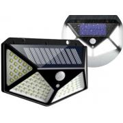 Luminária Solar 100 Leds De Parede Com Sensor De Movimento Lumimax GH601