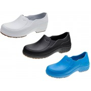 Sapato EVA Cabedal Solado Latex Borracha Full Grip S/ Bico Clean