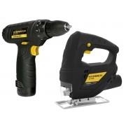 Serra Tico Tico Hammer ST-500 500w + Furadeira Parafusadeira 12v Hammer PLI-10