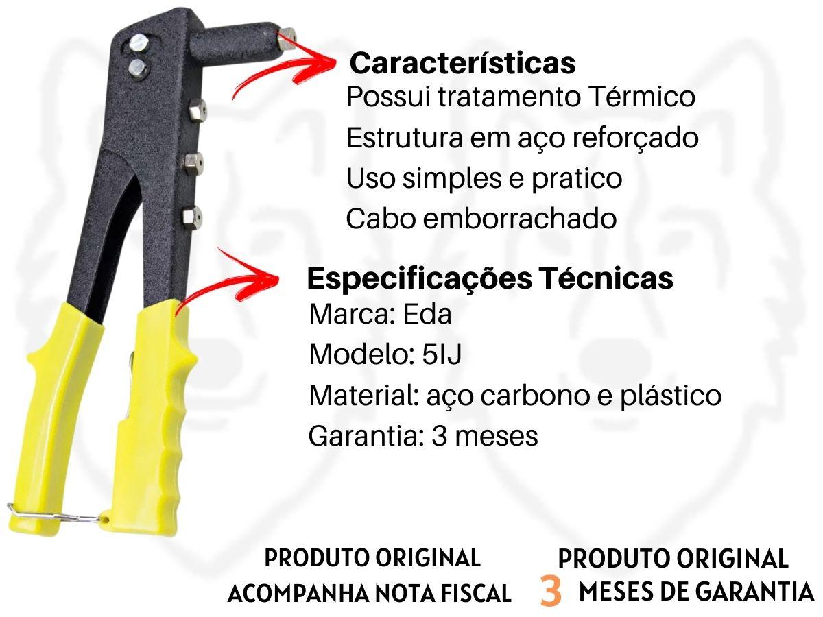 Alicate Rebitador Eda 5IJ 4 Bicos 40 Rebites