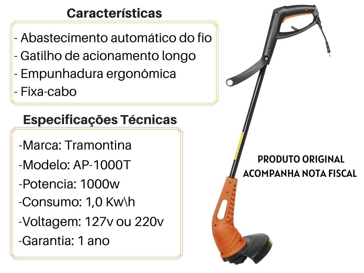 Aparador De Grama Tramontina AP-1000T 1000w